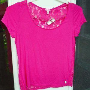 Juicy Couture Intimates Lace Tshirt XS NWT